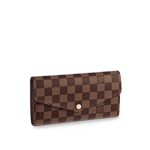 Louis Vuitton Handbags - Authentic Louis Vuitton Damier Ebene Sarah Wallet